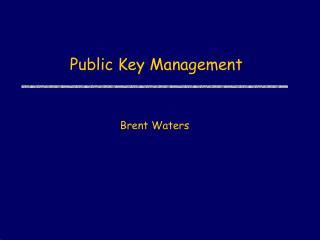 Public Key Management