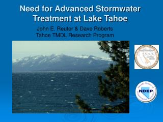 Need for Advanced Stormwater Treatment at Lake Tahoe