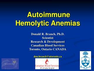 Autoimmune Hemolytic Anemias
