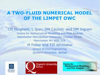 A TWO-FLUID NUMERICAL MODEL OF THE LIMPET OWC