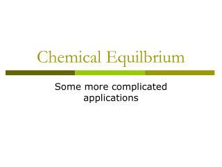 Chemical Equilbrium