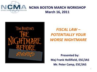 NCMA BOSTON MARCH WORKSHOP March 16, 2011