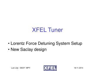 XFEL Tuner