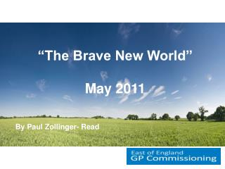 """""""The Brave New World"""" May 2011 By Paul Zollinger- Read"""