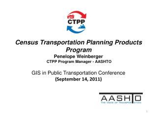 GIS in Public Transportation Conference (September 14, 2011)