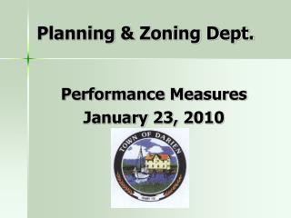 Planning & Zoning Dept.