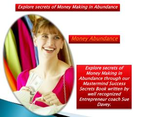 Money Making Secrets | Money Abundance