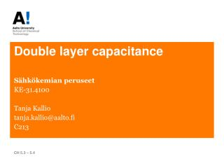 Double layer capacitance