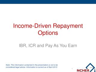 Income-Driven Repayment Options