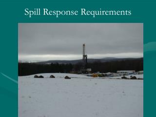 Spill Response Requirements