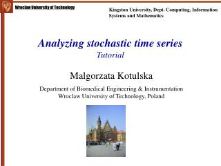 Analyzing stochastic time series Tutorial