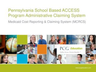 Pennsylvania School Based ACCESS Program Administrative Claiming System