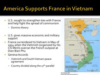 America Supports France in Vietnam