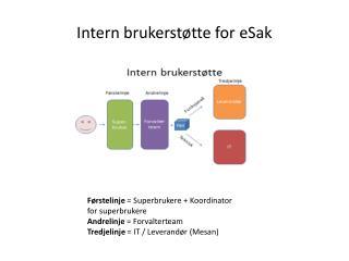 Intern brukerstøtte for  eSak
