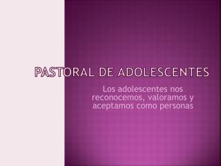 Pastoral de Adolescentes