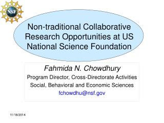 Non-traditional Collaborative Research Opportunities at US National Science Foundation