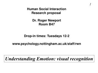 Human Social Interaction Research proposal