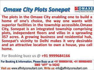 Omaxe City Residential Plots NH-1 Sonepat @ 09999684166