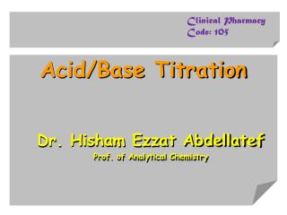 Acid/Base Titration