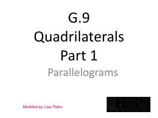 G.9 Quadrilaterals Part 1