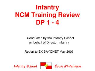 Infantry  NCM Training Review DP 1 - 4