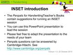 INSET introduction