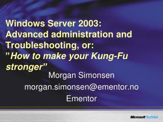 Morgan Simonsen morgan.simonsen@ementor.no Ementor