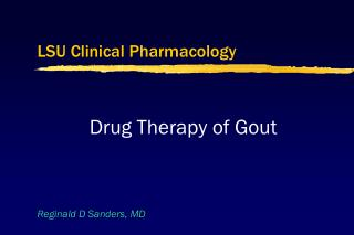LSU Clinical Pharmacology