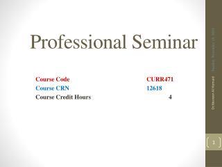 Professional Seminar