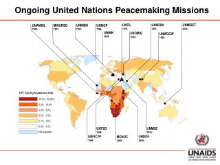 Ongoing United Nations Peacemaking Missions