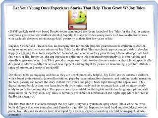 Let Your Young Ones Experience Stories That Help Them Grow W