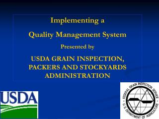 Implementing a Quality Management System Presented by