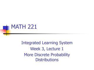 MATH 221