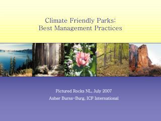 Climate Friendly Parks:  Best Management Practices