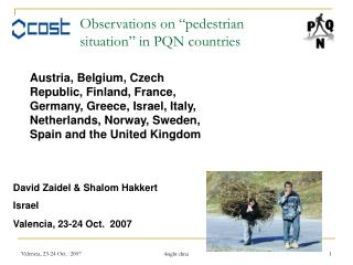 """Observations on """"pedestrian situation"""" in PQN countries"""