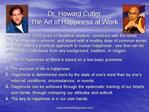 Dr. Howard Cutler The Art of Happiness at Work
