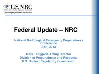 Federal Update – NRC