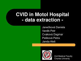 CVID in Motol Hospital - data extraction -