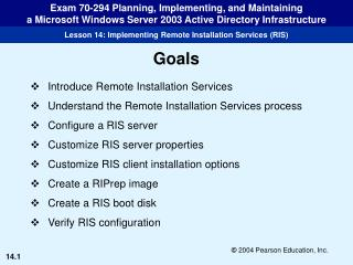 Introduce Remote Installation Services Understand the Remote Installation Services process