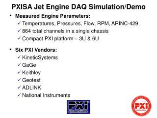 PXISA Jet Engine DAQ Simulation/Demo