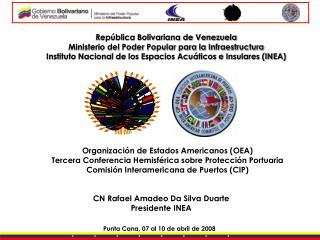 Rep blica Bolivariana de Venezuela Ministerio del Poder Popular para la Infraestructura Instituto Nacional de los Espaci