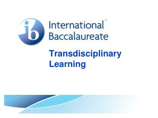 Transdisciplinary Learning