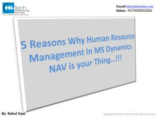 Microsoft Dynamics NAV For HR
