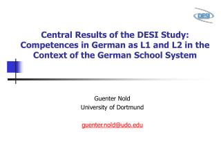 Central Results of the DESI Study: Competences in German as L1 and L2 in the Context of the German School System