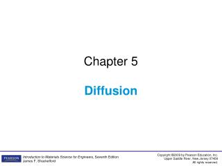 Chapter 5 Diffusion