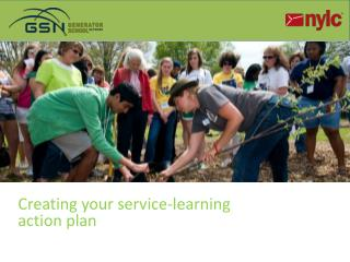 Creating your service-learning action  plan Learning
