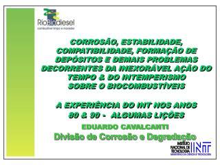CORROSÃO, ESTABILIDADE,