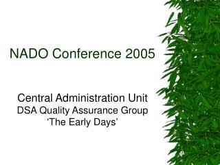NADO Conference 2005