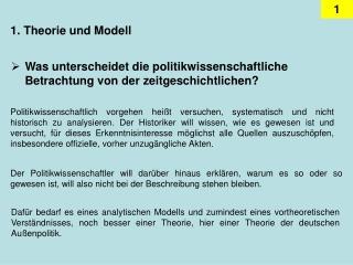 Theorie und Modell
