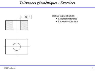 Tol rances g om triques : Exercices